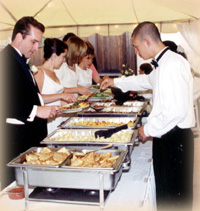 Full-service wedding catering